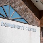 Side of a community centre building. [Community Centre.].