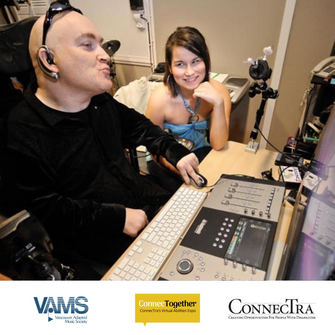 VAMS members working on recording in studio.